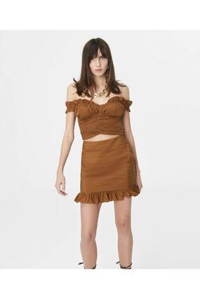 İpekyol Kadın Kahverengi Fırfır Şeritli Büstiyer 4