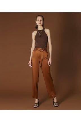 İpekyol Kadın Tarçın Kemerli Saten Pantolon 1