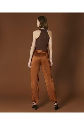 İpekyol Kadın Tarçın Kemerli Saten Pantolon 3