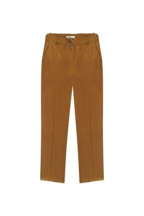 İpekyol Kadın Tarçın Kemerli Saten Pantolon 4