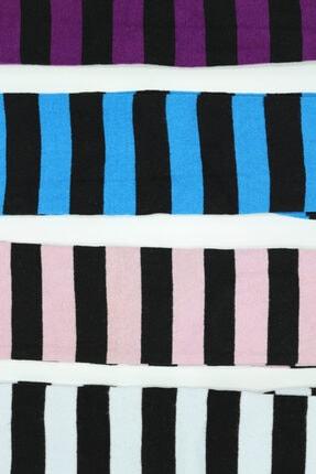 topsocks Kadın Renkli Uzun Çemberli Çorap 4'lü 1