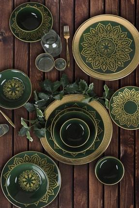 Keramika Topkapı Jocobs Yeşili Yemek Takımı 24 Parça 6 Kişilik 1