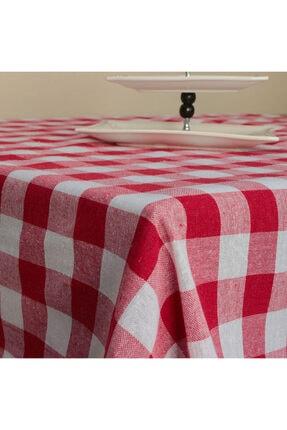 Deniz Marketim Kırmızı Çok Amaçlı Sofra Bezi Piknik Örtüsü 150x150 cm 0