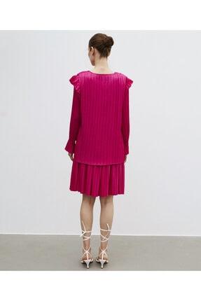 İpekyol Kadın Pembe Piliseli Bluz 2