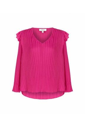 İpekyol Kadın Pembe Piliseli Bluz 3