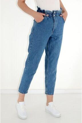 BURAKLİFE Kadın Beli Lastikli Boyfriend Pantolon 0