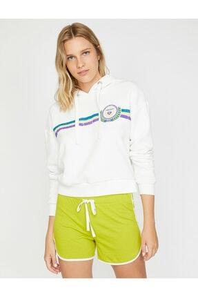 Koton Kadın Ekru Yazılı  Sweatshirt 2