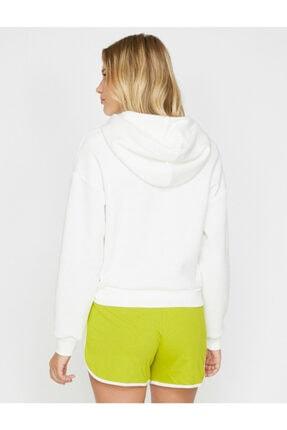 Koton Kadın Ekru Yazılı  Sweatshirt 3