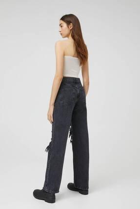Pull & Bear Kadın Siyah Pantolon 3