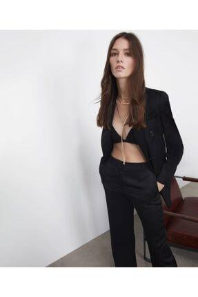İpekyol Kadın  Siyah Saten Ceket 2