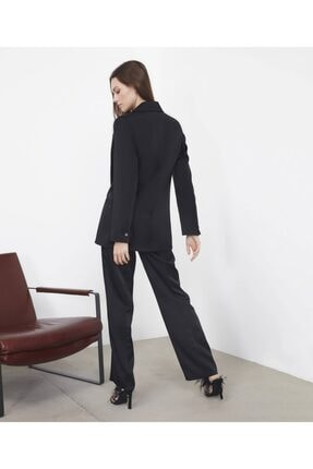 İpekyol Kadın  Siyah Saten Ceket 4