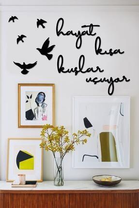 KanvasSepeti Hayat Kısa Kuşlar Uçuyor Dekoratif Duvar Tablosu 0