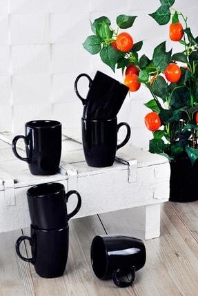Keramika Siyah Bulut Kupa 9 Cm 6 Adet 0