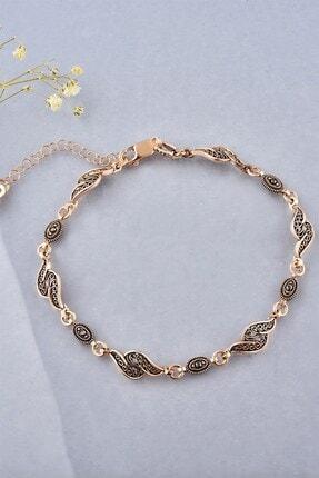jelux silver Kadın Rose Telkari Gümüş Bileklik 0