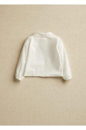 Mango Kırık Beyaz Unisex Bebek Yakalı Organik Pamuklu Gömlek 1