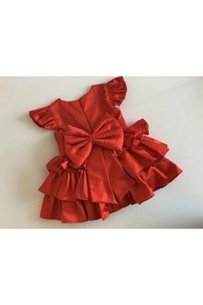 GNL Tasarım Kız Bebek Kırmızı Elbise 0