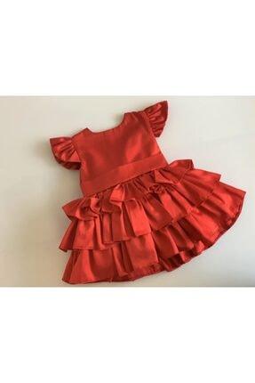 GNL Tasarım Kız Bebek Kırmızı Elbise 1