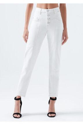 Mavi Kadın Lily Gold Icon Düğme Detaylı Beyaz Jean Pantolon 100991-31290 3
