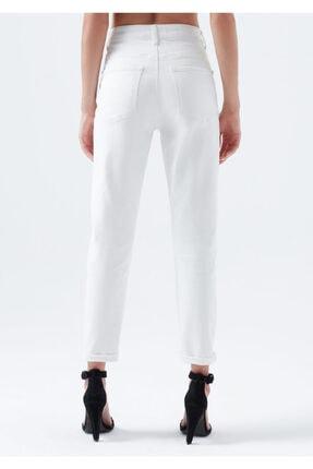 Mavi Kadın Lily Gold Icon Düğme Detaylı Beyaz Jean Pantolon 100991-31290 4
