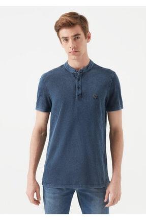 Mavi Erkek Mavi Hakim Yaka T-Shirt 0