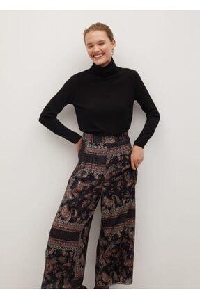 Mango Kadın Siyah Salaş Pantolon 0