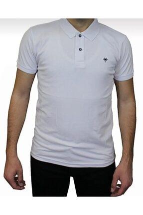 Picture of Erkek Beyaz Polo Yaka Battal T-shirt