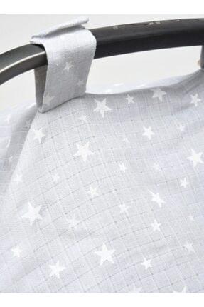 Minikom Baby Müslin Puset Oto Koltuğu Yıldızlar Ana Kucağı Örtüsü 2