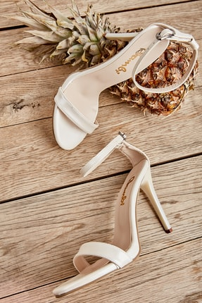 Bambi Beyaz Sedef Kadın Abiye Ayakkabı K01527007909 0