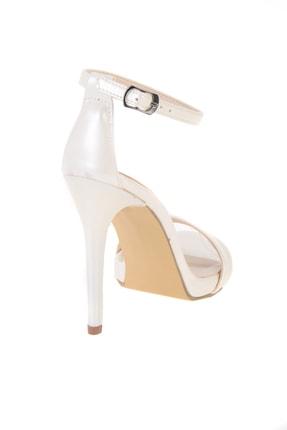 Bambi Beyaz Sedef Kadın Abiye Ayakkabı K01527007909 3