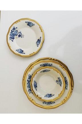 LEONARTE CASA Derya Home Lotus Mavi 24 Parça El Yapımı Porselen Yemek Takımı 1