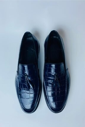 LA PANTE Erkek Lacivert Hakiki Deri Rugan Casual Ayakkabı 2