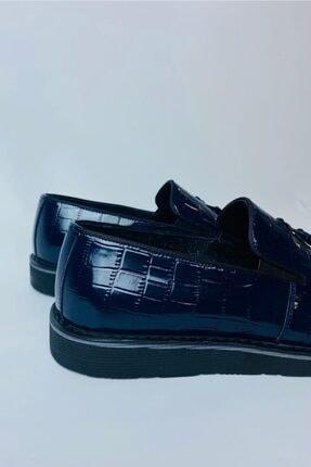 LA PANTE Erkek Lacivert Hakiki Deri Rugan Casual Ayakkabı 4
