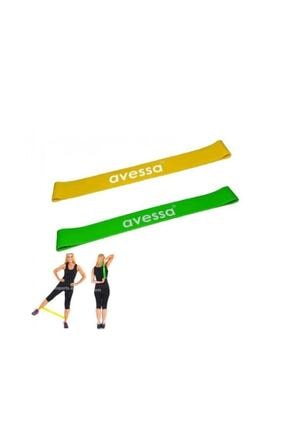 Avessa Latex Aerobik Band 2li Set Hafif Orta Avs-labset 0