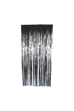 Deniz Party Store Metalize Fon Perde Duvar Perdesi Siyah Renk 0