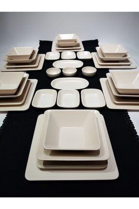 GULHANILE Kare 35 Parça 6 Kişilik Kahvaltı Yemek Takımı 0