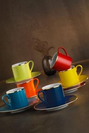 Kütahya Porselen Rüya Renkli Kahve Fincan Takımı 0
