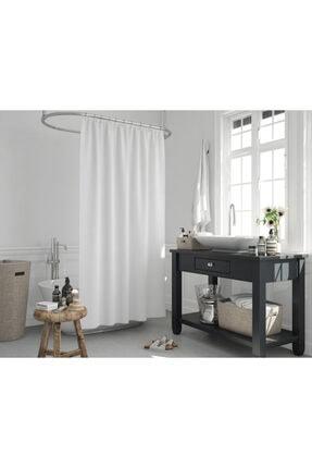 Jackline Beyaz Renk Banyo Perdesi 2