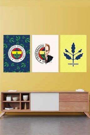 Fertuğ Fenerbahçe Temalı   3 Parça Kanvas Tablo 0