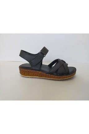 İpekçe Home Kadın Siyah Ortapedik Sandalet 1
