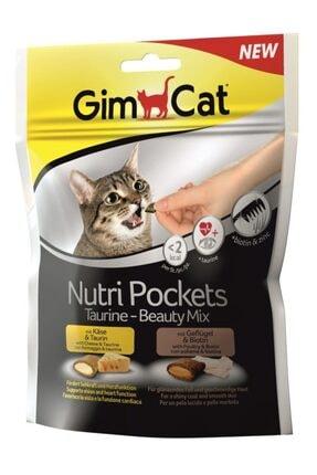 Gimcat Nutripockets Kedi Ödülü Taurin&beauty 150gr 0