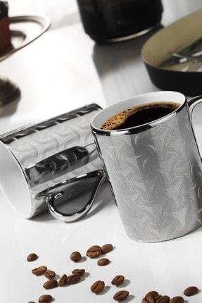 Kütahya Porselen Forest 2 Prime;li Mug Bardak Platin 10930 0