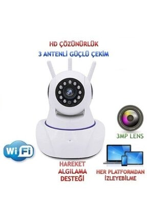 Mobitell 360° Wi-fi Ev Ofis Bebek Izleme Full Hd Güvenlik Kamerası 2