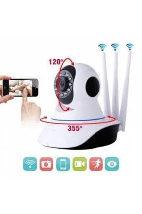 Mobitell 360° Wi-fi Ev Ofis Bebek Izleme Full Hd Güvenlik Kamerası 3