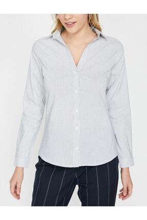 Koton Kadın Klasik Yaka Gömlek 2