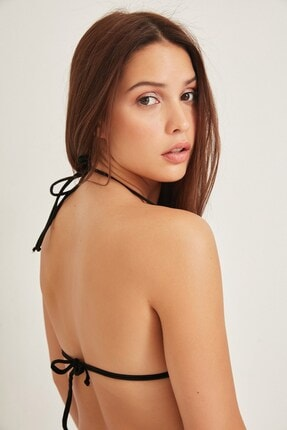 C City Kadın Üçgen Bikini Üstü 2955 Siyah 1