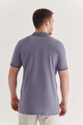 Avva Erkek Lila Polo Yaka Düz T-shirt A11b1146 2