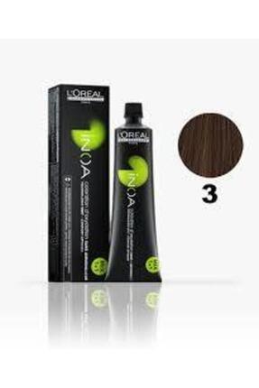 İNOA 3 Numara Koyu Kestane Saç Boyası 60 Ml (oksidansız) 0