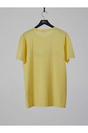 Ltb Erkek  Sarı  Baskılı  Kısa Kol Bisiklet Yaka T-Shirt 012208415960890000 1