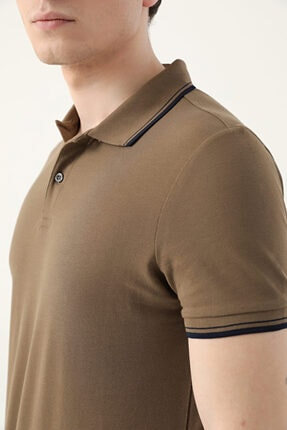 D'S Damat Ds Damat Slim Fit Vizon Pike Dokulu T-shirt 2