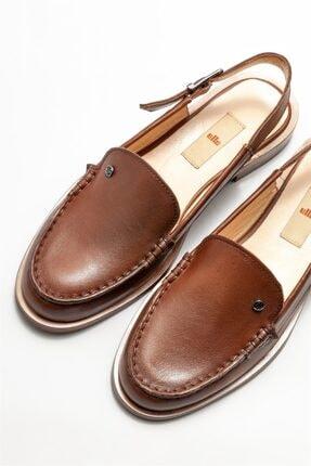 Elle Kadın Taba Deri Düz Ayakkabı 2